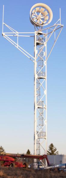 Installation of 15 foot wind turbine in Rutland, MA built by Kenway.